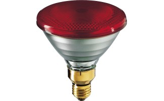 ИК-лампа PHILIPS IR175WR PAR38 E27 230V d121x136 RED красная